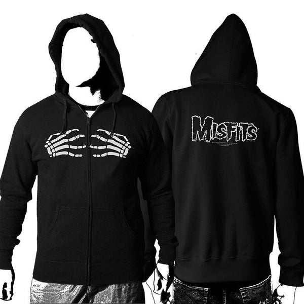 Skeleton Hands Zip Up Hoodie - Misfits Shop - 1
