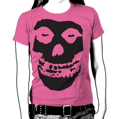 Black Skull Womens T-Shirt - Misfits Shop - 1