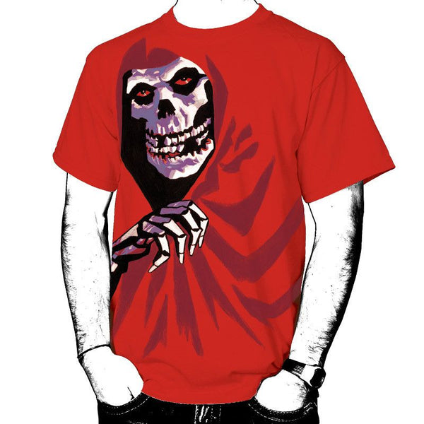 All Over Red Fiend T-Shirt - Misfits Shop - 1
