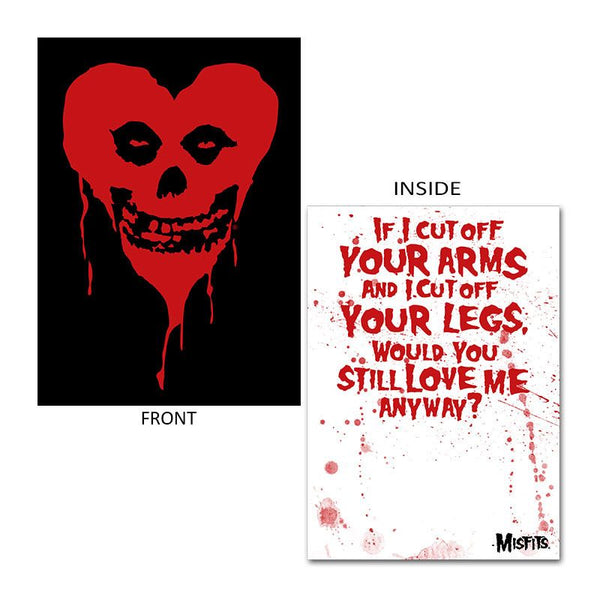 Ltd Ed. Fiendish Heart Valentine Card - Misfits Shop