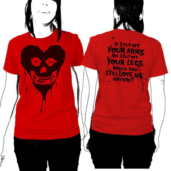 Ltd Ed. Fiendish Black Heart Womens T-Shirt - Misfits Shop - 1