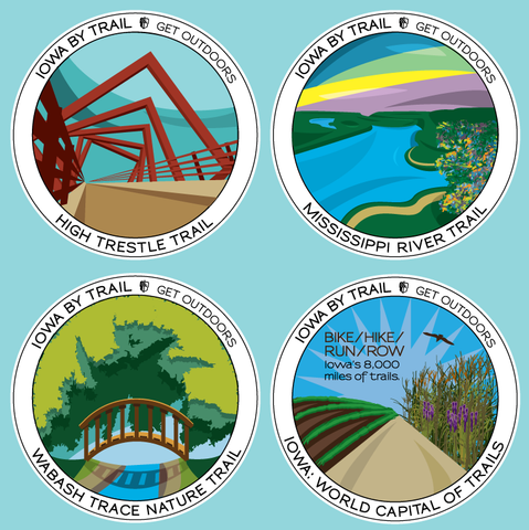 Iowa Trail Stickers (Limited Edition)