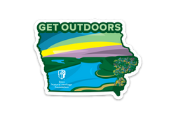 "Single Iowa ""Get Outdoors"" Sticker"