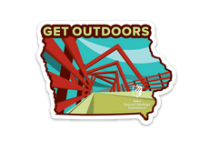 "2 for $5 High Trestle ""Get Outdoors"" Sticker"