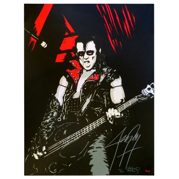 Jerry Only AUTOGRAPHED Ltd Ed screen-printed poster - Misfits Records