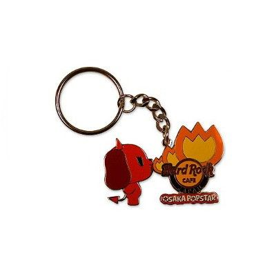 Devil Dog Hard Rock Cafe Keychain - Misfits Records