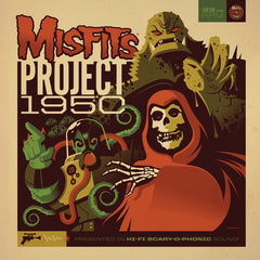 "Misfits ""Project 1950"" (Expanded Edition) LP, Fluorescent Yellow Vinyl w/ download card - Misfits Records - 3"
