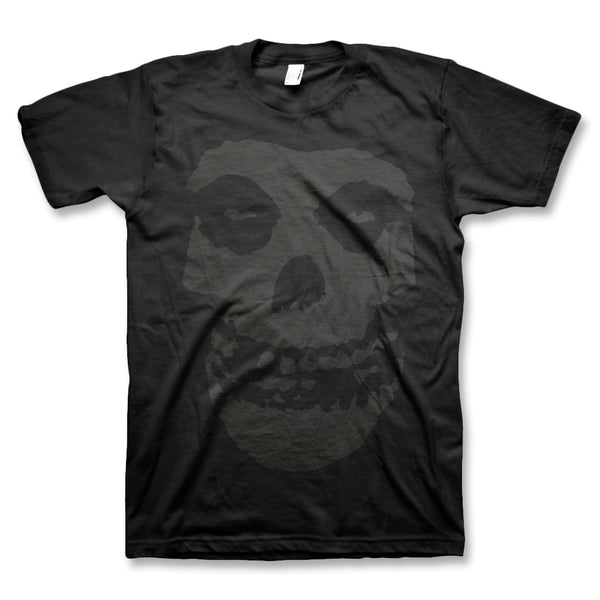 Black On Black Fiend Skull T-Shirt