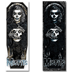 "'Unmasked' (Black Edition) by Rhys Cooper 12"" x 36"", 6-color screen-print poster (w/ glow in the dark & metallic inks) - Misfits Records - 3"
