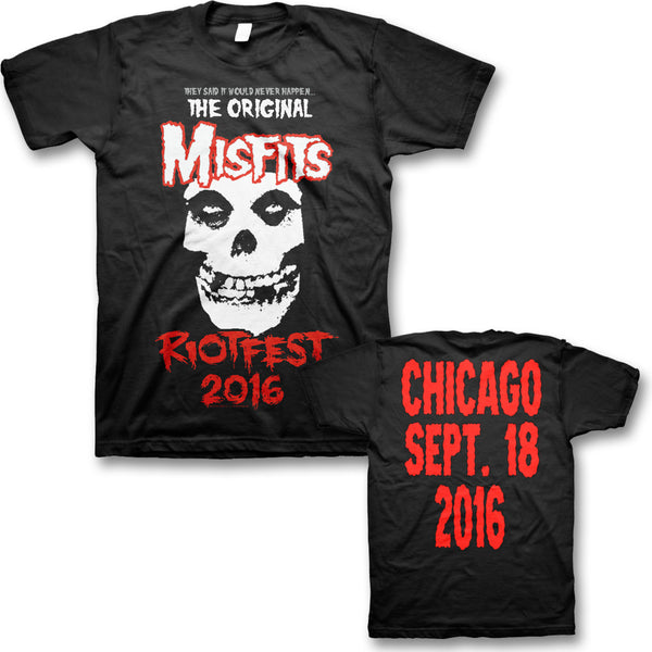Official Original Misfits Reunion, Riot Fest Event T-shirt