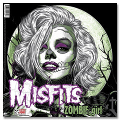"Vampire Girl / Zombie Girl 12"" - Clear w/ Green & Purple - Misfits Records - 4"