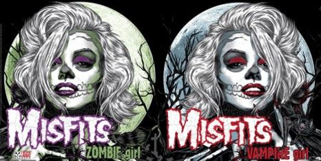 Misfits Exclusive MP3 Files: Vampire Girl/Zombie Girl - Misfits Records