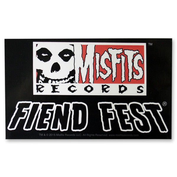 Fiend Fest Sticker - Misfits Records