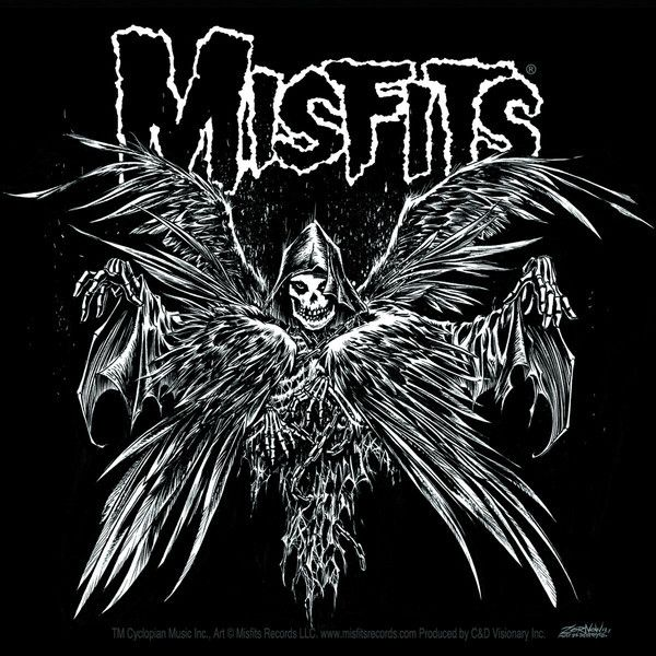 Misfits Descending Angel Sticker - Misfits Records