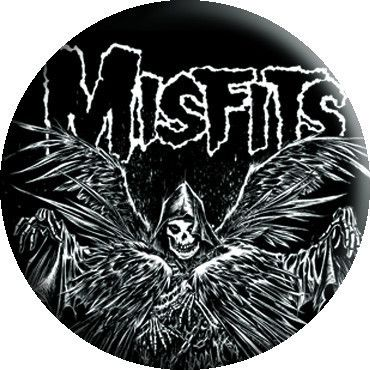 "Misfits ""Descending Angel"" Button - Misfits Records"