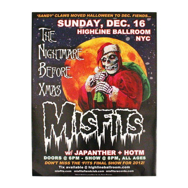 The Nightmare Before Xmas Poster - Misfits Records