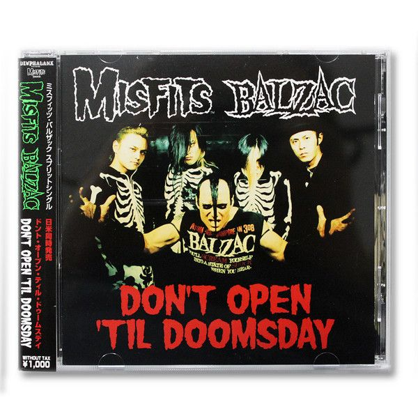 Misfits/Balzac: Don't Open Till Doomsday Split CD Single (Import) - Misfits Records