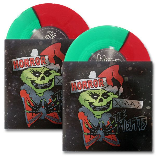 "MISFITS ""HORROR XMAS""—LTD ED RED & GREEN SPLIT VARIANT VINYL SET - Misfits Records - 1"