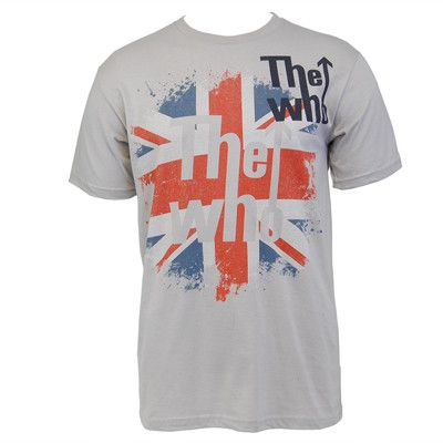 The Who Flag Slim T-shirt (Grey) - The Who Official Online Store - 1