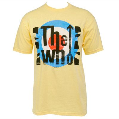 The Who London Flag Slim T-shirt (yellow) - The Who Official Online Store - 1