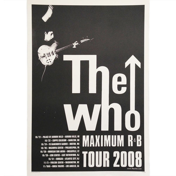 Limited Edition Max R&B Poster - The Who Official Online Store
