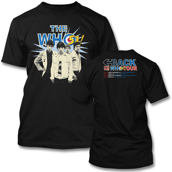 Back To The Who 51 Tour T-shirt - The Who Official Online Store