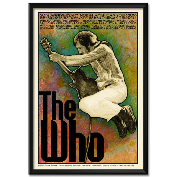 Chuck Sperry Limited Edition 2016 US Tour Poster - Pete Version - The Who Official Online Store