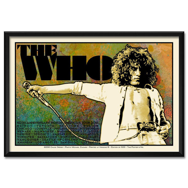Chuck Sperry Limited Edition 2016 US Tour Poster - Roger Version - The Who Official Online Store