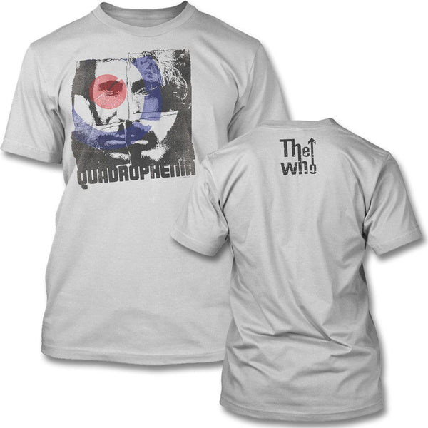 The Who Four Square Slim T-shirt (silver) - The Who Official Online Store - 1