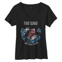 Reign V-Neck T-shirt - Women's (Black) - The Who Official Online Store - 1