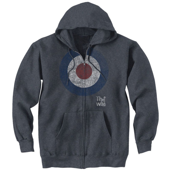 Target Charcoal Zip Up Hoodie - The Who Official Online Store - 1