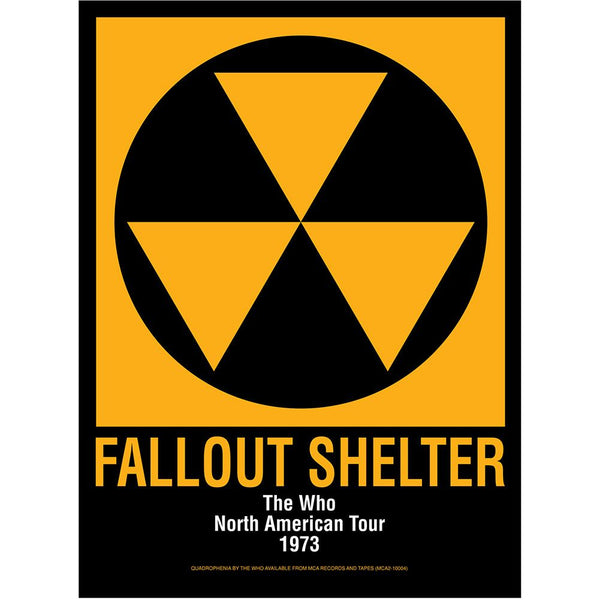 The Who Fallout Shelter Poster - The Who Official Online Store