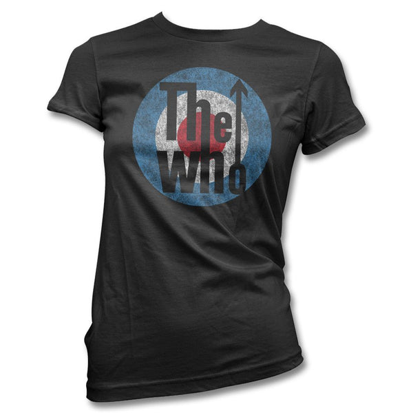 Distressed Classic Logo T-shirt - Women's - The Who Official Online Store - 1