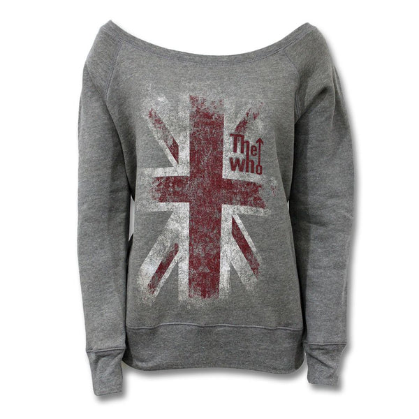 Union Jack Grey Scoop Neck Sweatshirt - The Who Official Online Store - 1