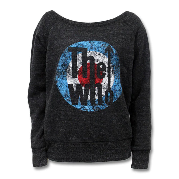 The Who Exclusive 2016 Tour - Classic Logo Scoop Neck Sweatshirt - Women's - The Who Official Online Store - 1