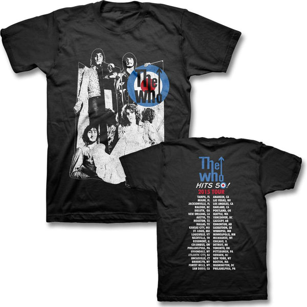 Mirrors 2015 US Tour T-shirt (Black) - The Who Official Online Store - 1