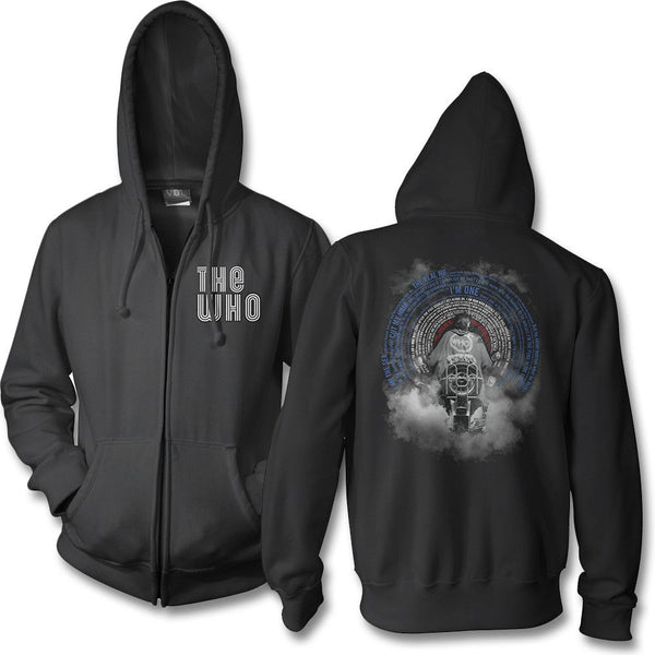Quad Scooter Black Zip Up Hoodie - The Who Official Online Store - 1