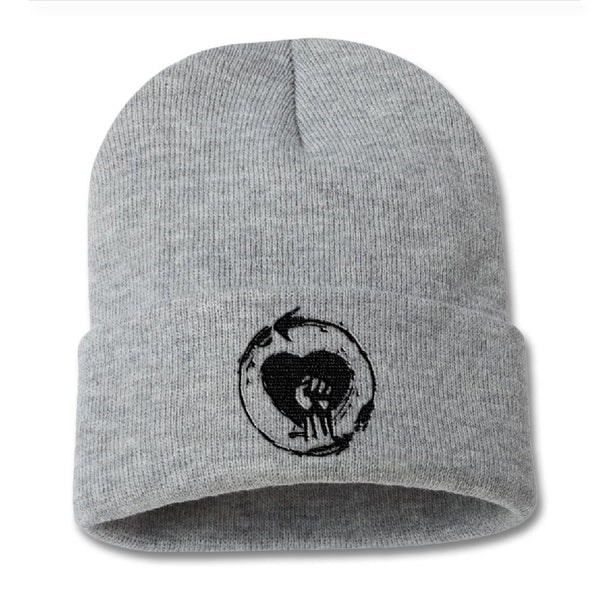 Embroidered Heartfist Beanie - Rise Against Official Online Store