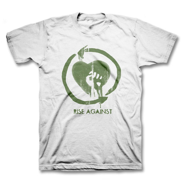 Heartfist Toddler Tee - White - Rise Against Official Online Store