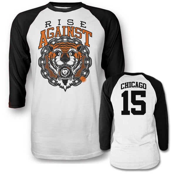 Tiger Bomb Raglan T-shirt - Rise Against Official Online Store