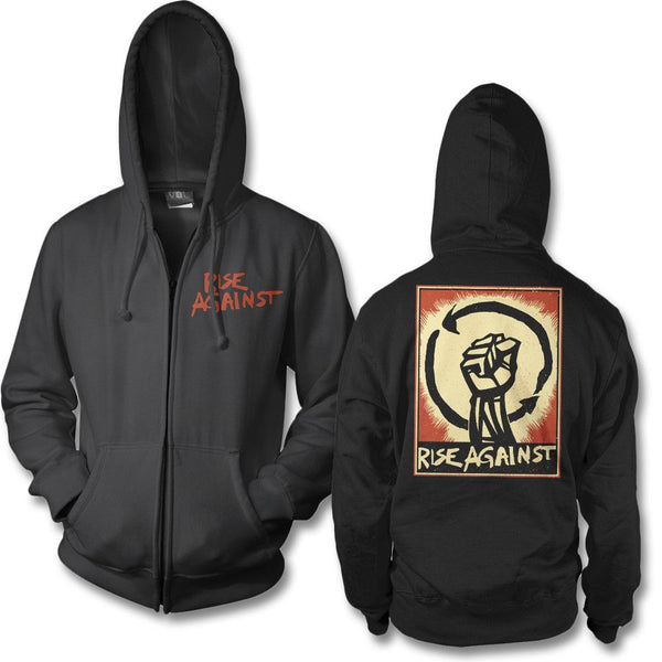 Fist Up Zip Hoodie - Rise Against Official Online Store