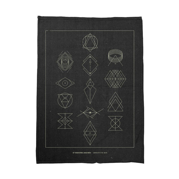 Symbols Black Tea Towel - Of Monsters and Men Official Store