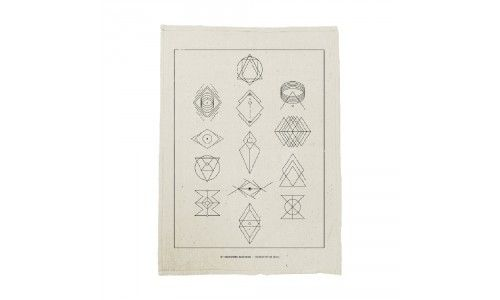 Symbols Cream Tea Towel - Of Monsters and Men Official Store
