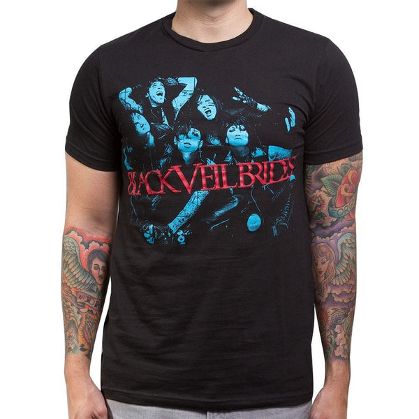 Blue Men's Slim Tee - Black Veil Brides Official Store - 1