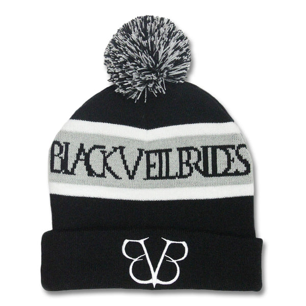 BVB Embroidered Knit Beanie - Black Veil Brides Official Store