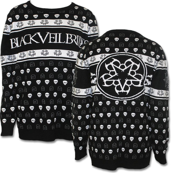 Black Veil Brides Trick Or Treat Knitted Sweater