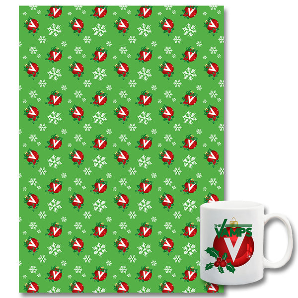 Official The Vamps Mug + Wrapping Paper Bundle