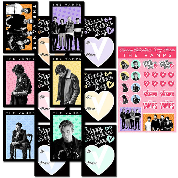 Official The Vamps Valentine's Day Card Set