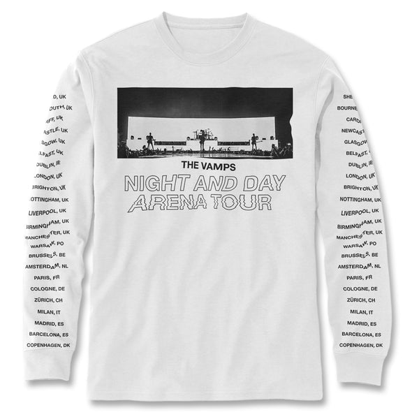 Live Tour Long Sleeve Shirt (Black Print)