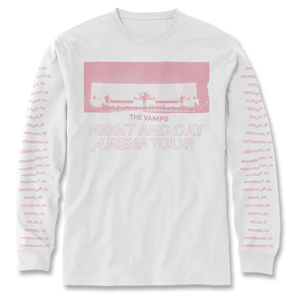 Live Tour Long Sleeve Shirt (Pink Print)